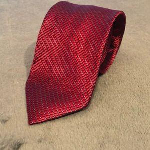 Náutica Red Geometric Men's Tie 100% Silk